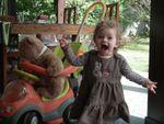 Madonie et Teddy bear en chariot