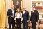Donald Trump recibió en Washington a Lilian Tintori