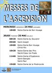 MESSES DE L'ASCENSION : 24 et 25 MAI 2017