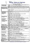 ANNONCES Semaines 13 - 14