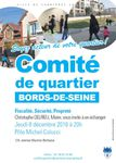 #237 - Réunion du Comité de Quartier Bords de Seine le 08/12