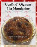 Confit d'Oignons aux Raisins et Mandarine ...