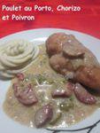 (Portugal) Poulet au Porto, Poivron et Chorizo ...
