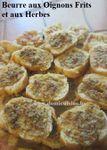 Beurre aux Oignons Frits et Herbes pour Baguette au Four ...