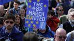 Londres SAM.25-03-2017: des milliers de manifestants contre le BREXIT