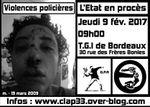 [Jeudi 9 février 2017- Bordeaux] Violences policières : l'Etat en procès