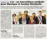 Noces d'or de M et Mme Denoyelle en mars 2017 à La Neuville Chant d'Oisel