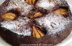 Gâteau chocolat poires façon brownie