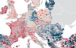 Carte de l'évolution de la population en France et en Europe