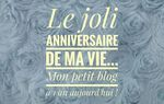 Happy birthday mon joli blog