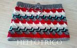 TOUR DE COU AU CROCHET  EN POINT APACHE ( apache tears )