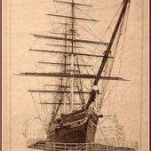 251 - Voilier Cutty Sark, Clipper anglais de 1869, trois-mâts-carré, caractéristiques, routes du thé et du coton, Angleterre, Chine, Mauritius, Australie. - SKREO-Dz