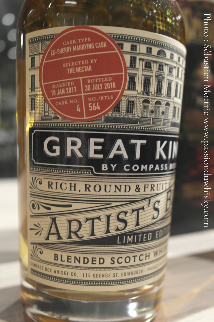 Compass Box Great King St Single Marrying Cask for The Nectar