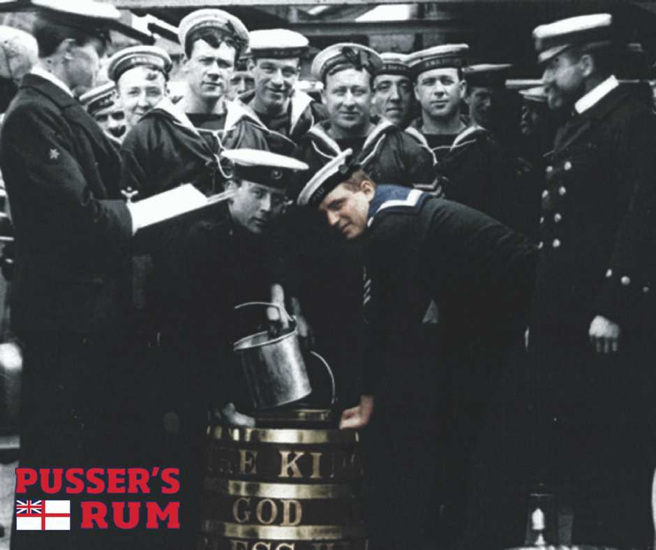 British Navy Pusser Rum - Gunpowder Proof