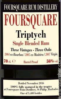Foursquare Triptych - Single Blended Rum (Velier)