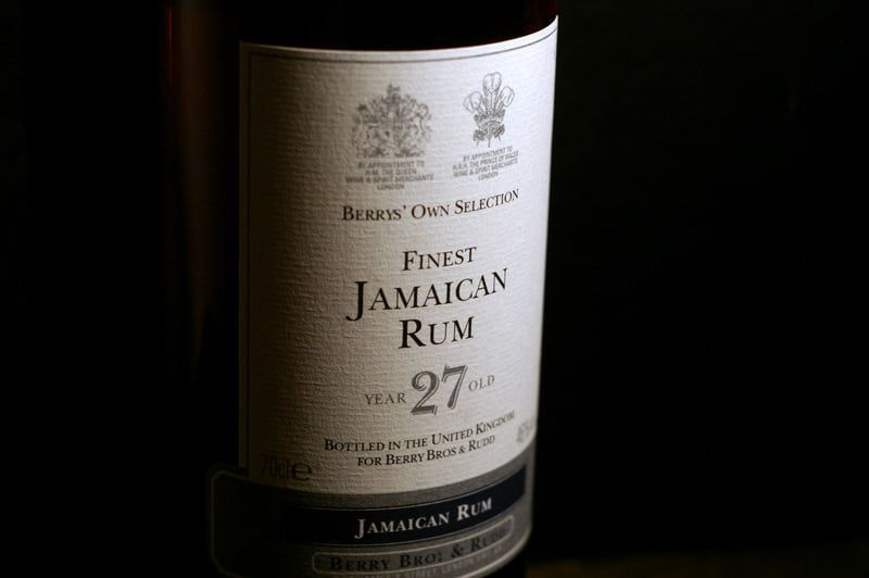 Berrys Own Selection - Finest jamaïcain rum  27 years old