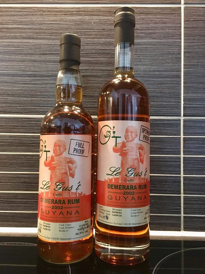 Le Gus't Demerara 2002 - VERSION 60.4° OPTIMUM PROOF / LA VERSION BRUTALE 66.9° FULL PROOF