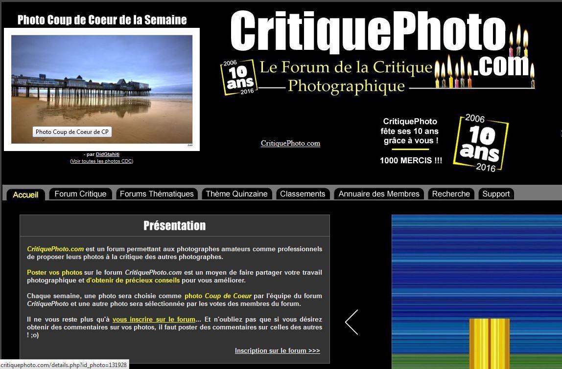 France, Francophone. Critique photo fête ses dix ans  !