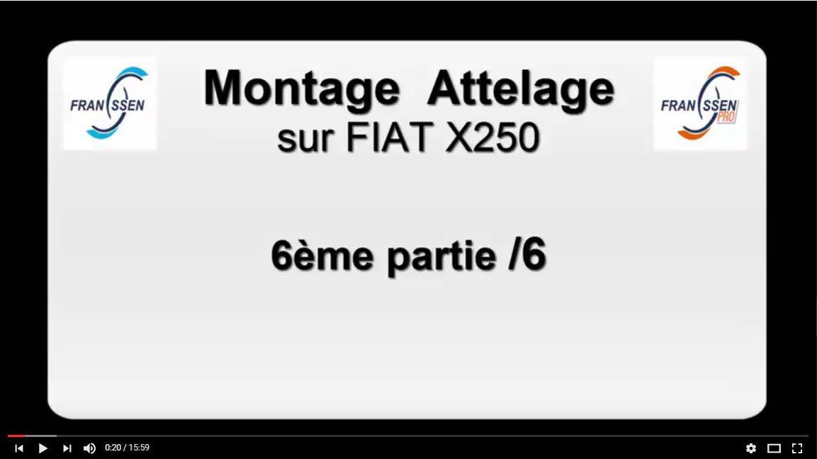 montage attelage camping car fiat x250 franssen remorques