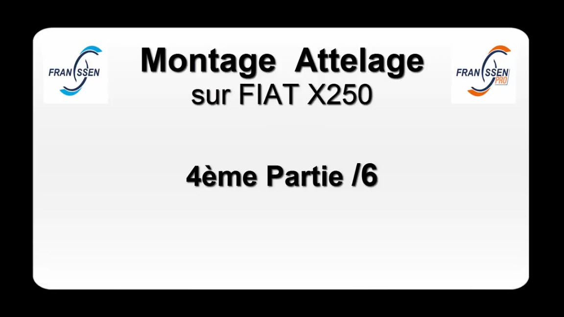 montage attelage camping car fiat x250 franssen remorques