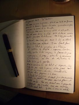 manuscrit du message de MStGermain