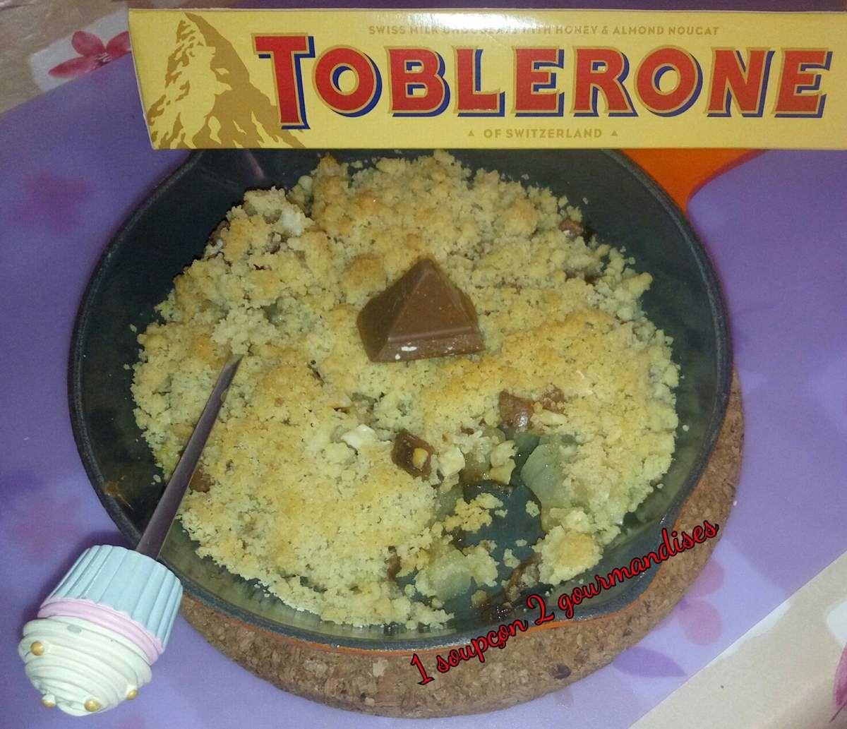Crumble aux Poires et Toblerone