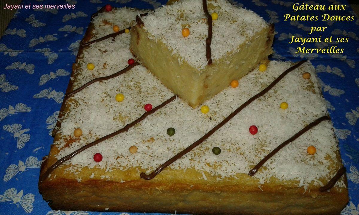 """Gâteau aux Patates Douces par """"Jayani et ses Merveilles"""""""