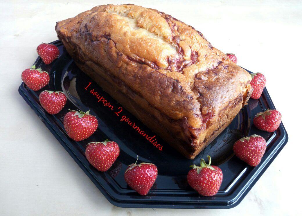 Cake Marbré Vanille-Fraise