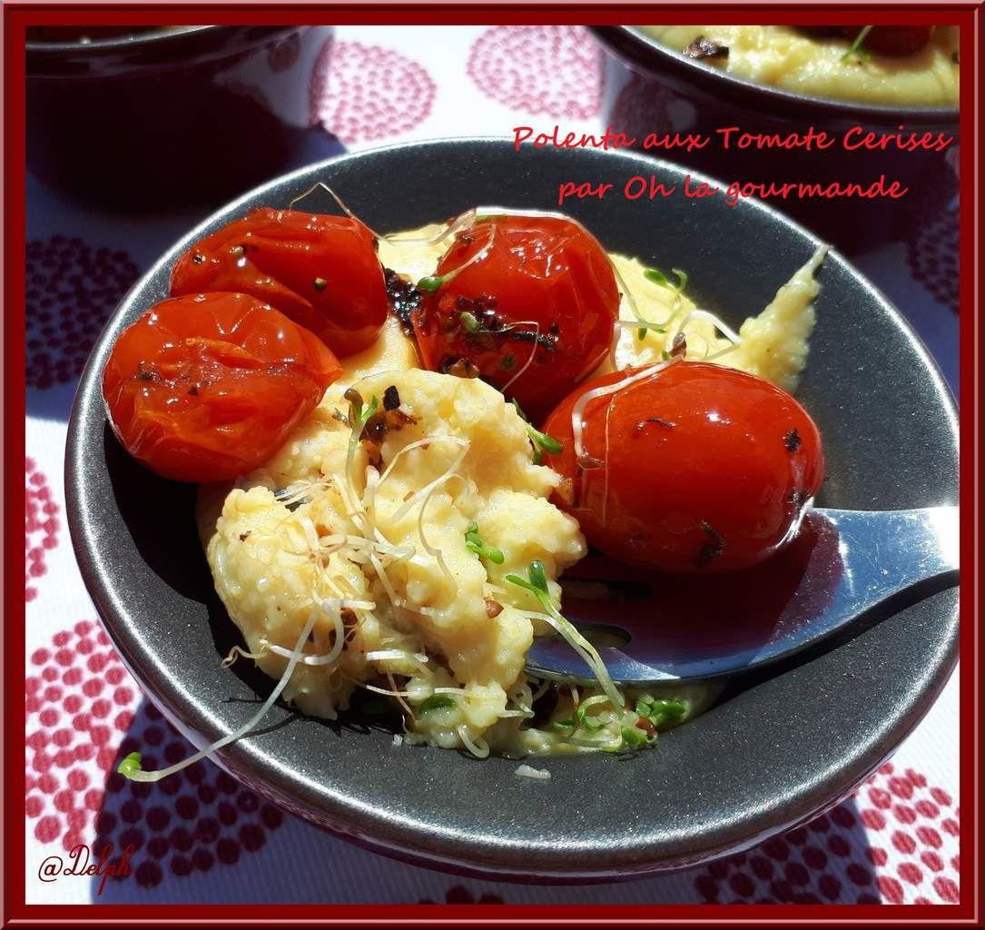 Polenta aux Tomates Cerises par Oh, la gourmande