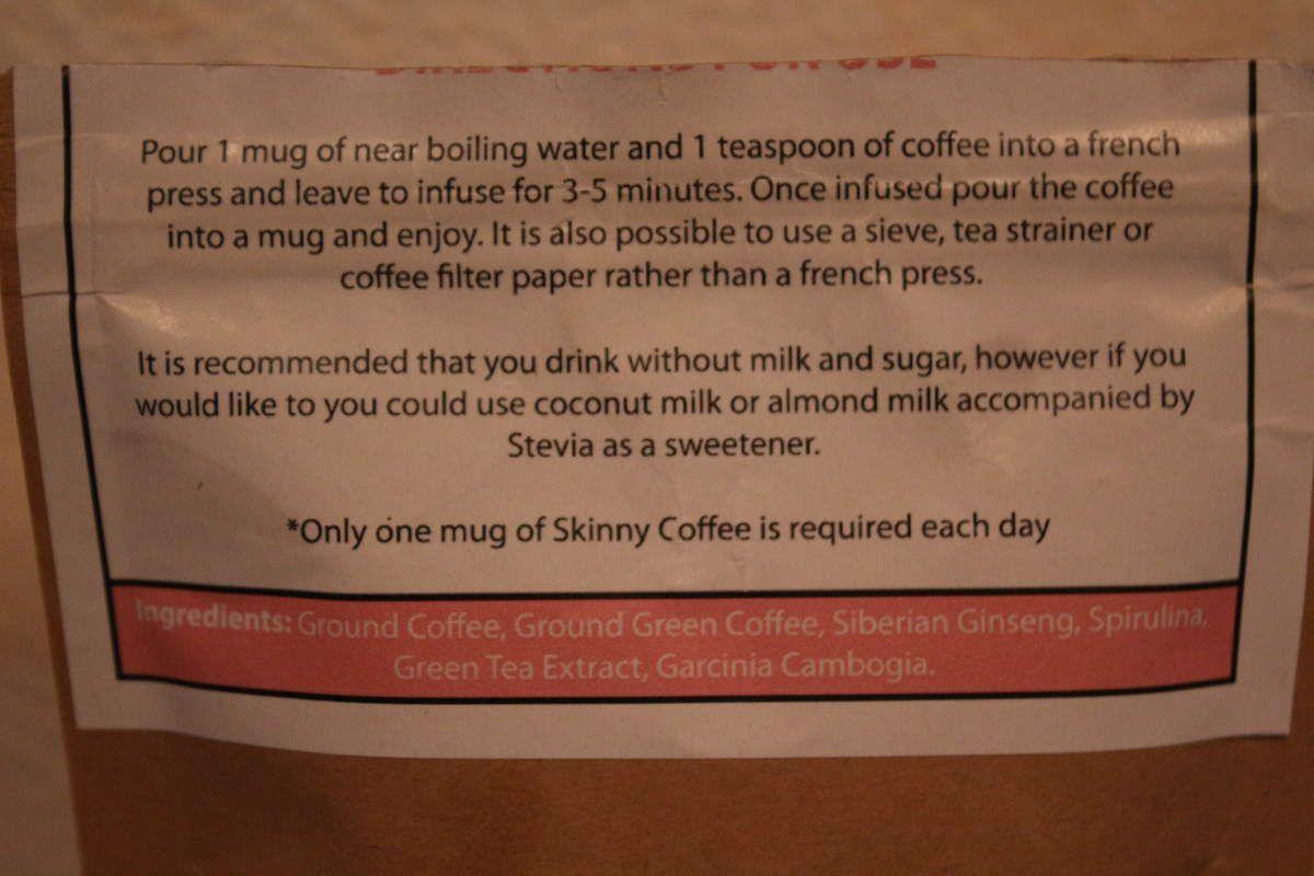 Mon avis sur le Skinny coffee