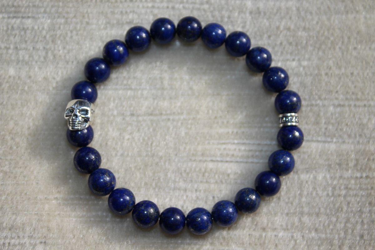 Bracelet en Lapis-Lazuli de la gamme Skull