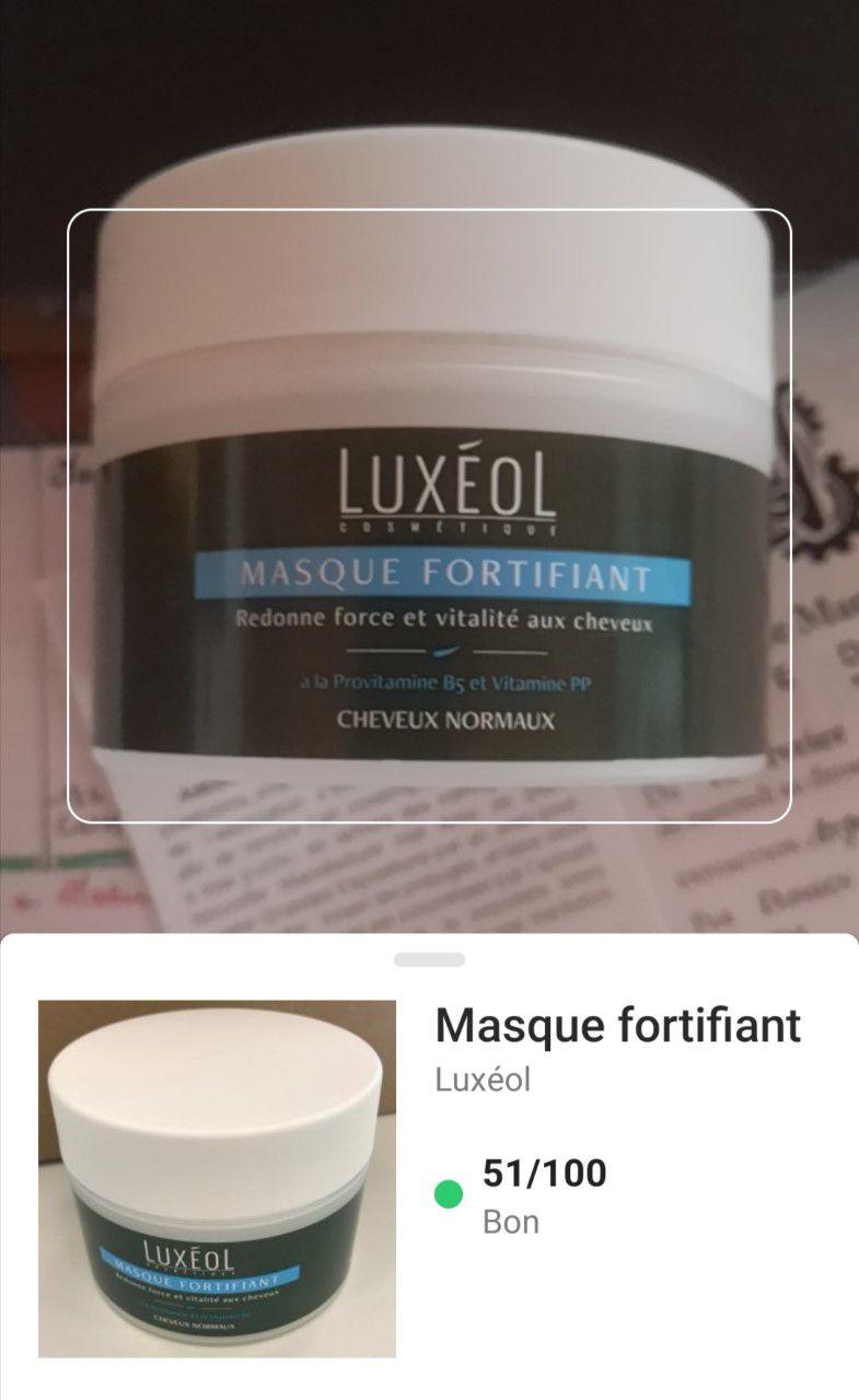 Mon avis sur le masque fortifiant de Luxéol.