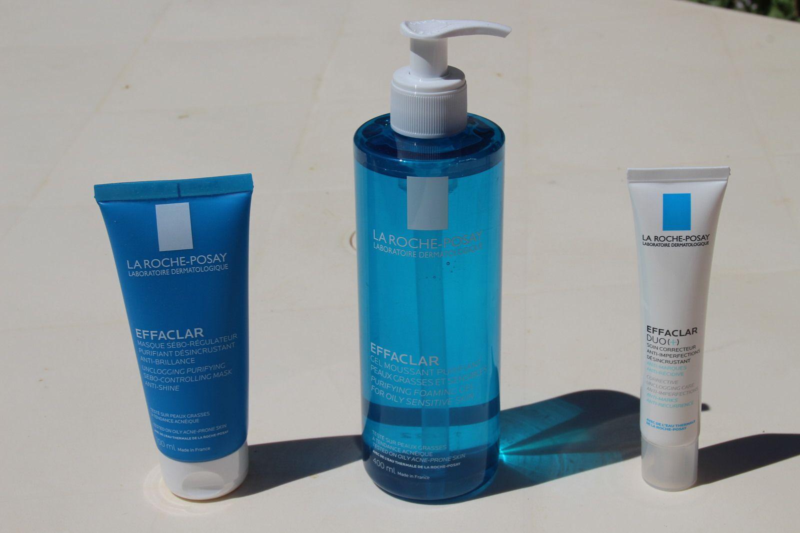 La gamme EFFACLAR de La Roche-Posay, le soin des peaux grasses !