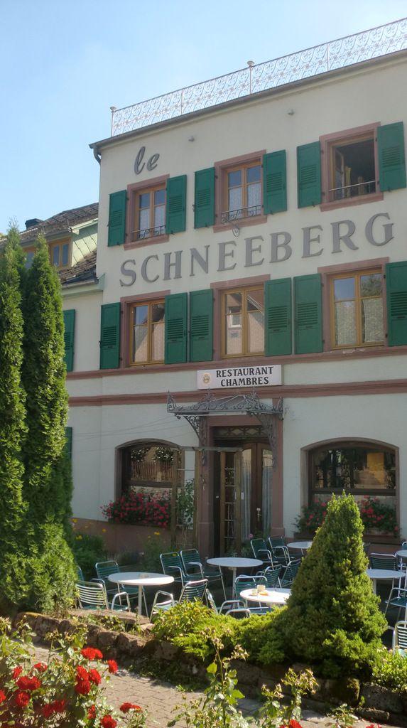 La terrasse du Schneeberg sera plus accueillante que la prairie devant le refuge. Occasion de se rafraîchir avant le retour sur Wasselonne.