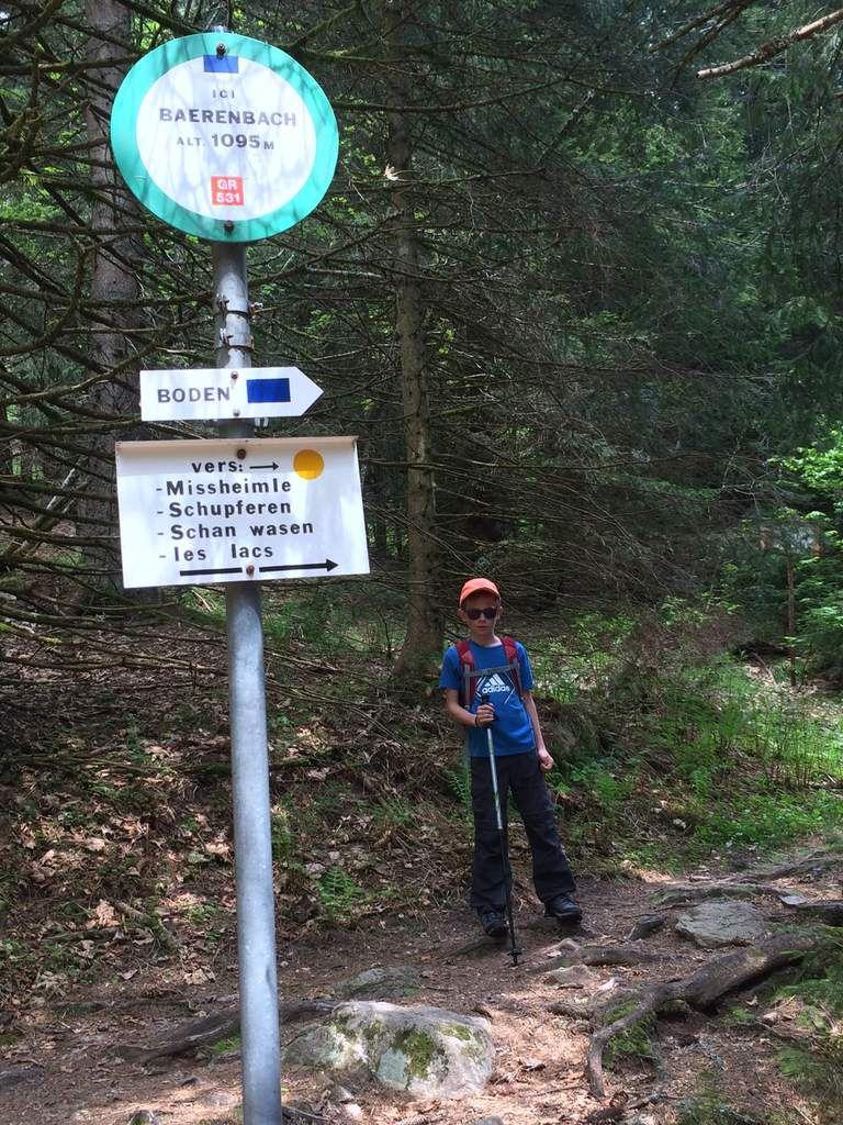 Au Baerenbach (ruisseau des ours),nous entamons notre montée vers la crête,