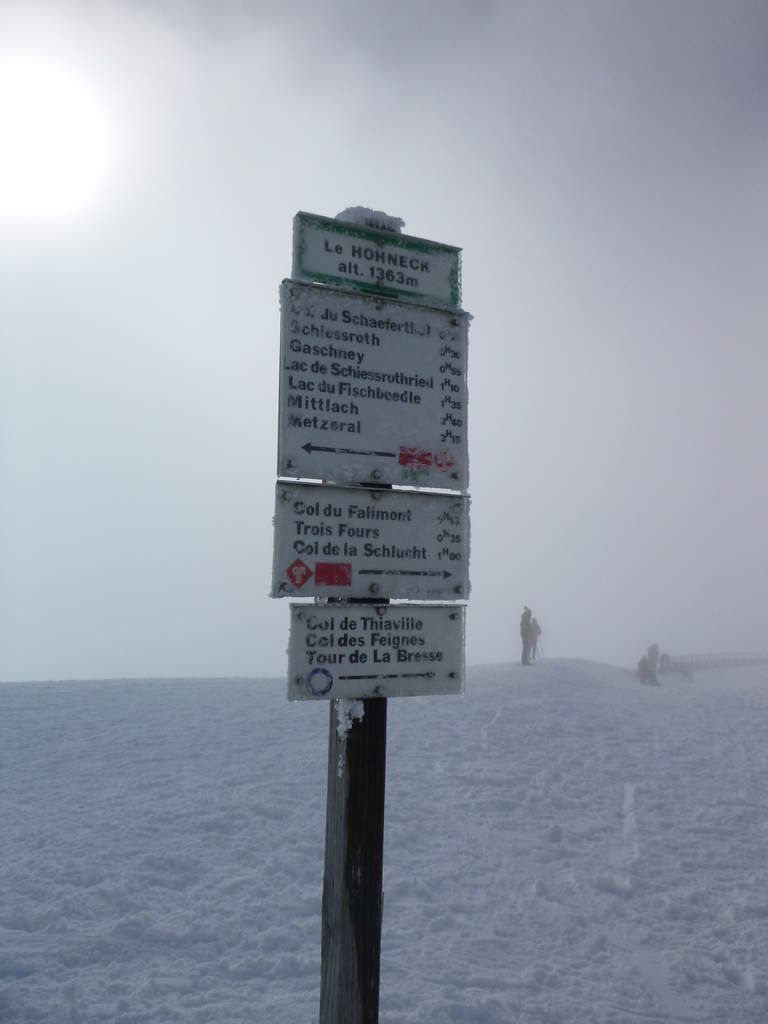 13h45 : Sommet du Hohneck à 1363 mètres. (Photo : Laurent H.)