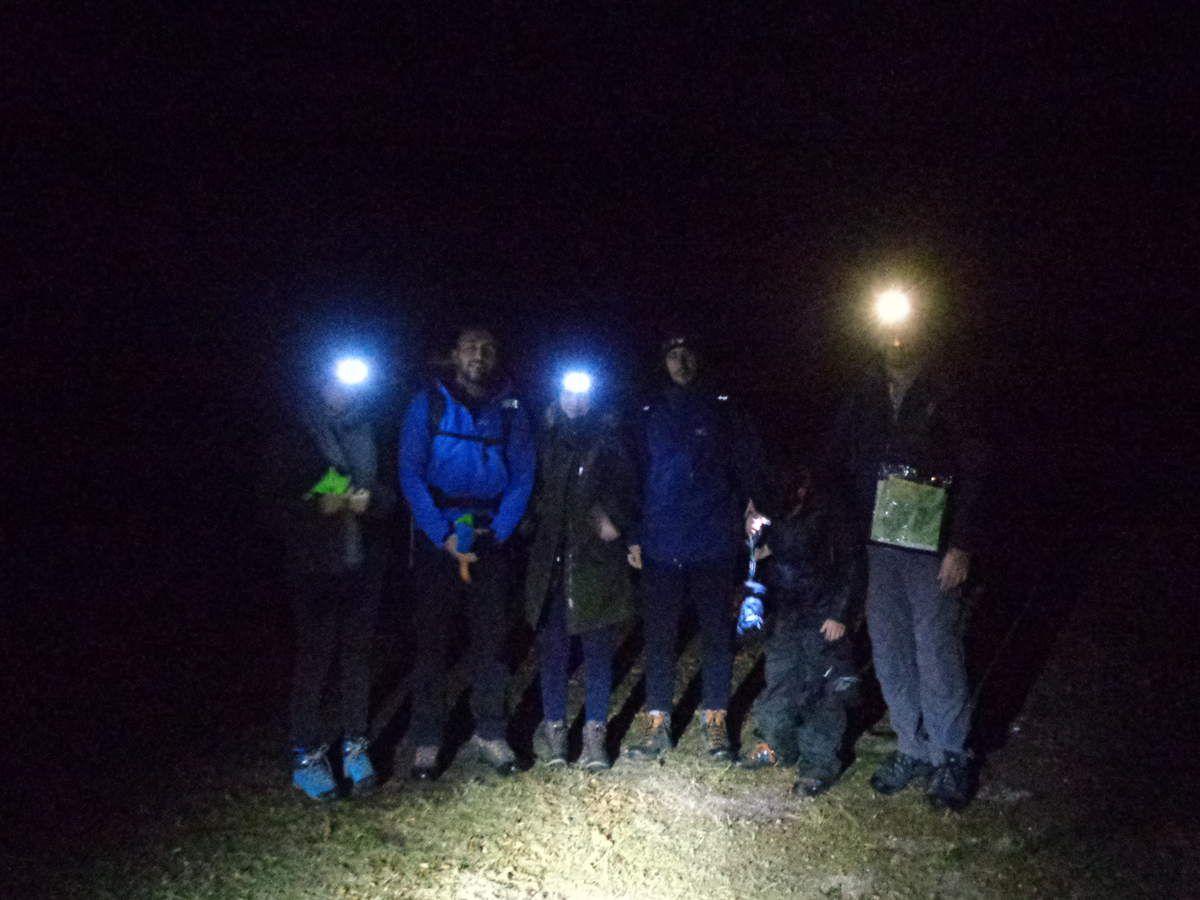 Le petit groupe au Col du Hoellenwasen (916m)