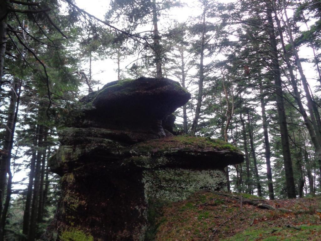 En bout de barre rocheuse, un dernier éperon, sentinelle avant de descendre vers le col.