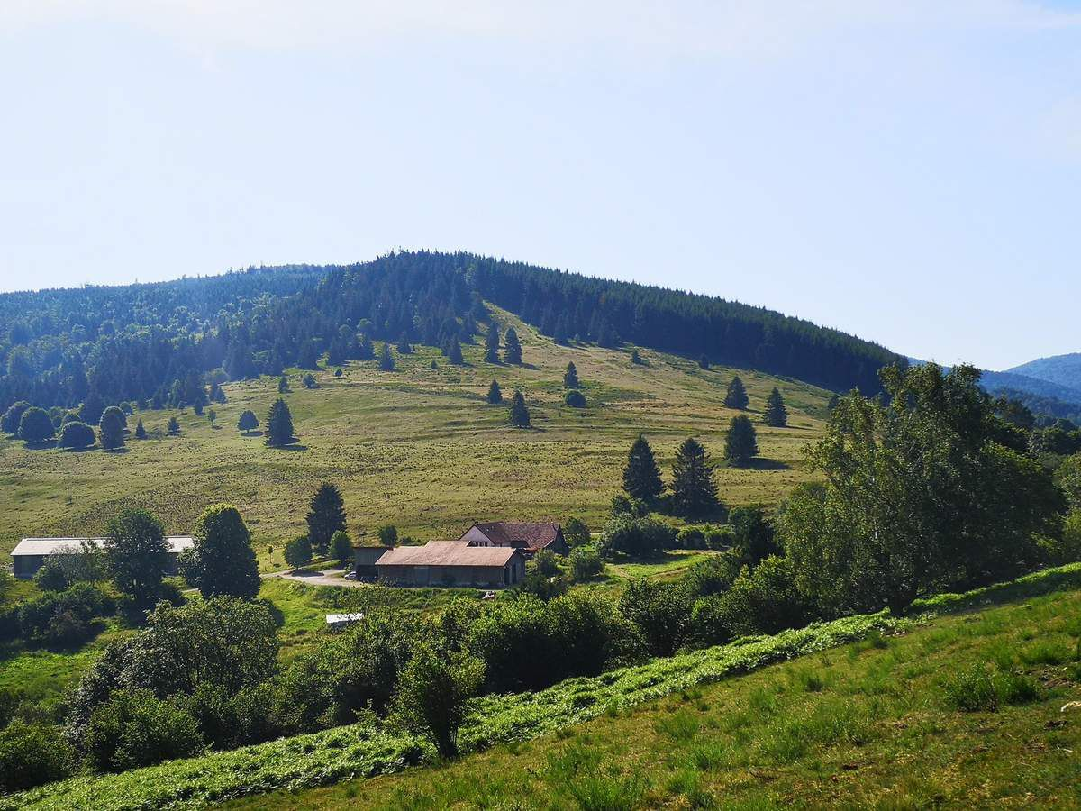 La ferme auberge du Col de la Perheux, sur les bans communaux de Wildersbach
