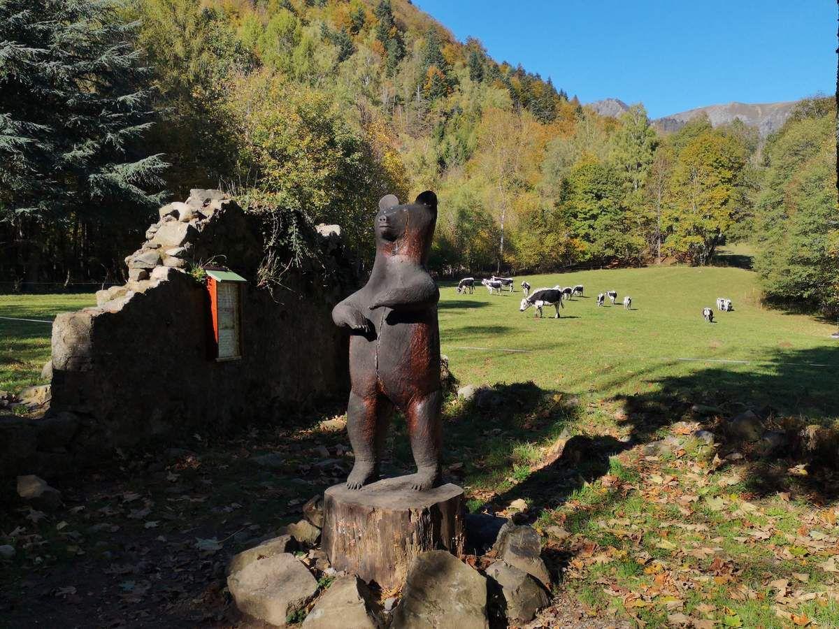 Le fameux ours de la Wormsa, en mémoire du dernier ours abattu dans le secteur de Mittlach (1760).