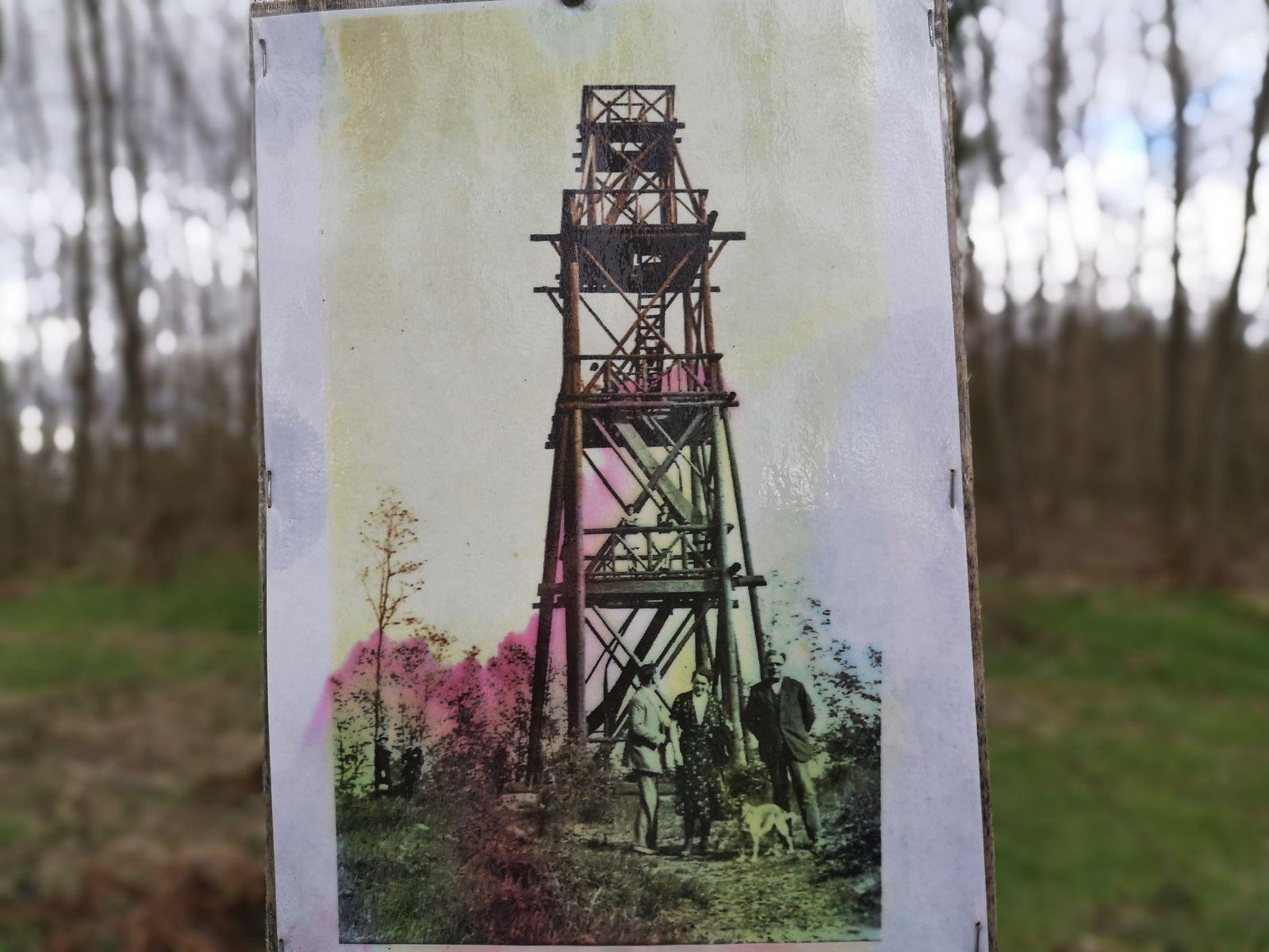 Nouvelle découverte. Le belvédère du Wangenberg, tel qu'il était visible avant la deuxième guerre mondiale.