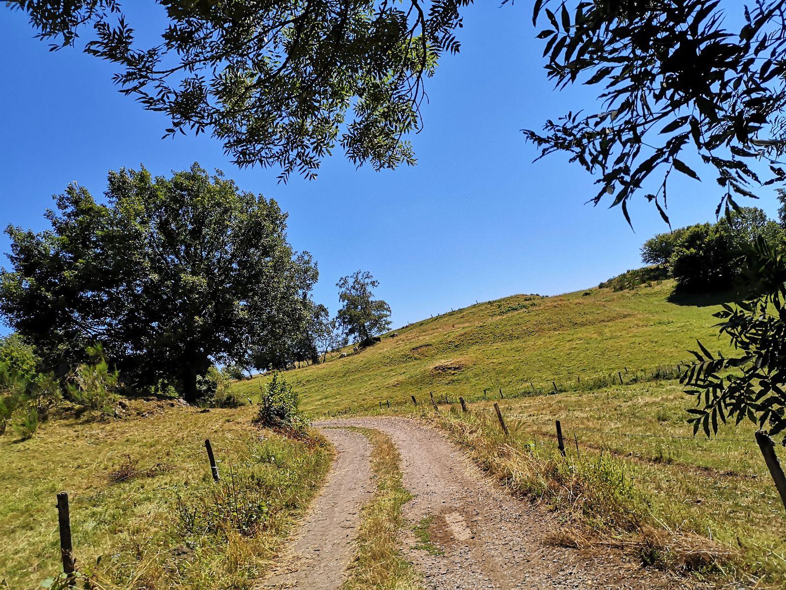 Après avoir franchi le dernier hameau, le goudron s'efface enfin pour laisser la place à des chemins carrossables.