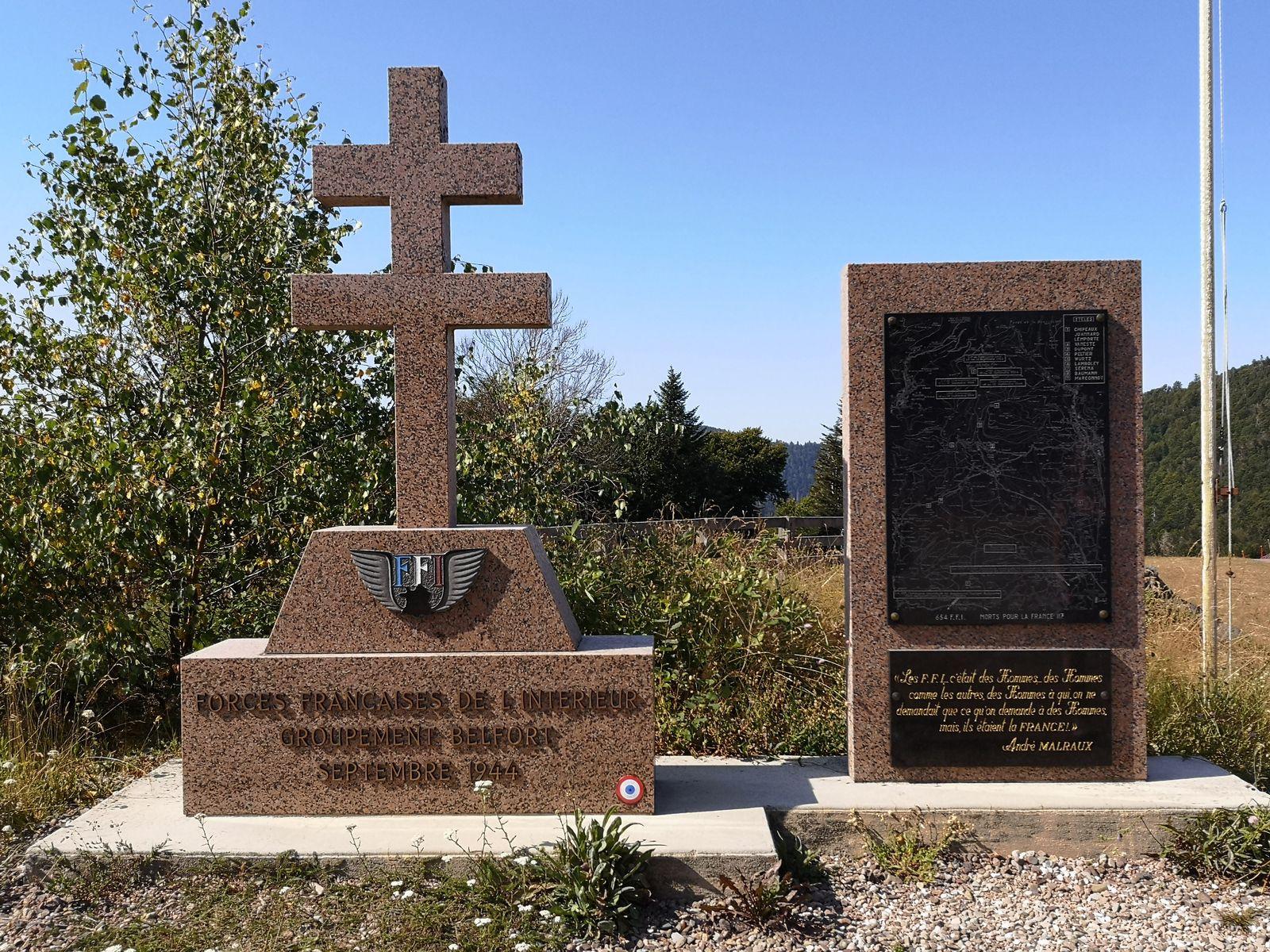Le monument dédié aux maquisards des F.F.I, qui sont morts sur lieux en septembre 1944.