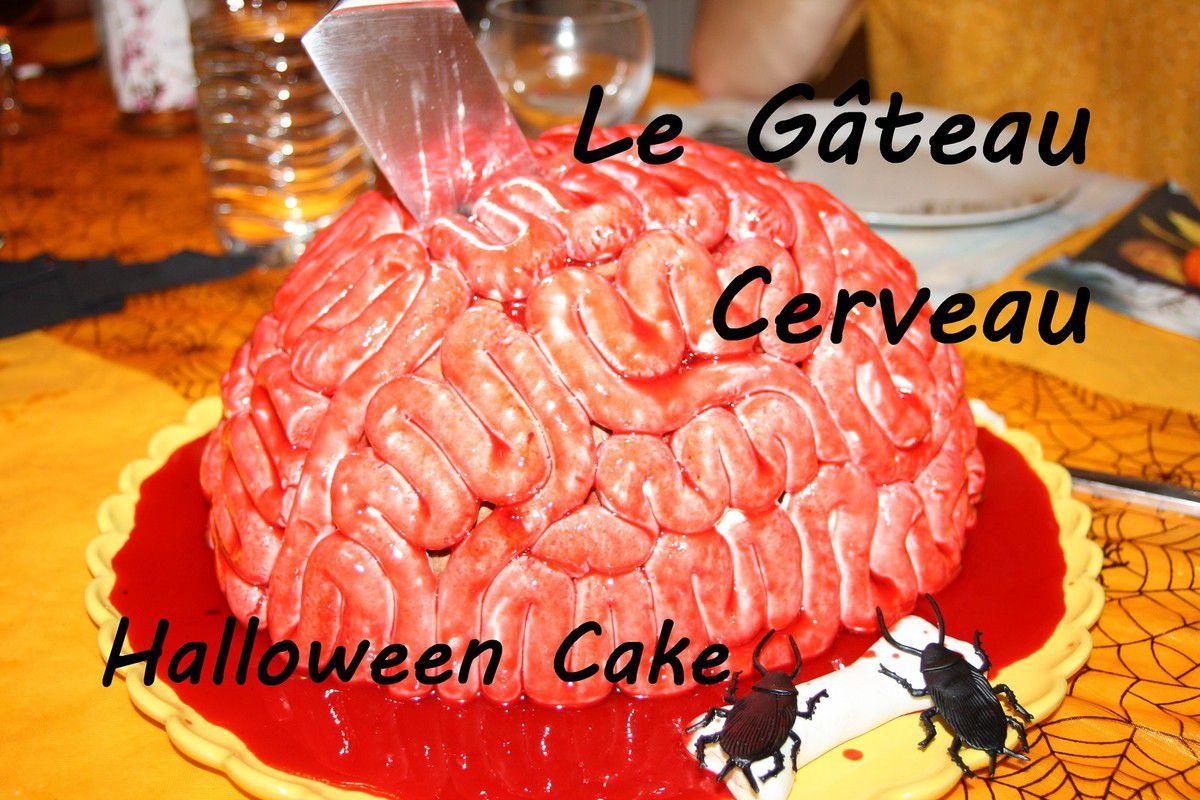 Le Gateau Cerveau Pour Halloween Brain Cake La Cuisine Facile D Estelle