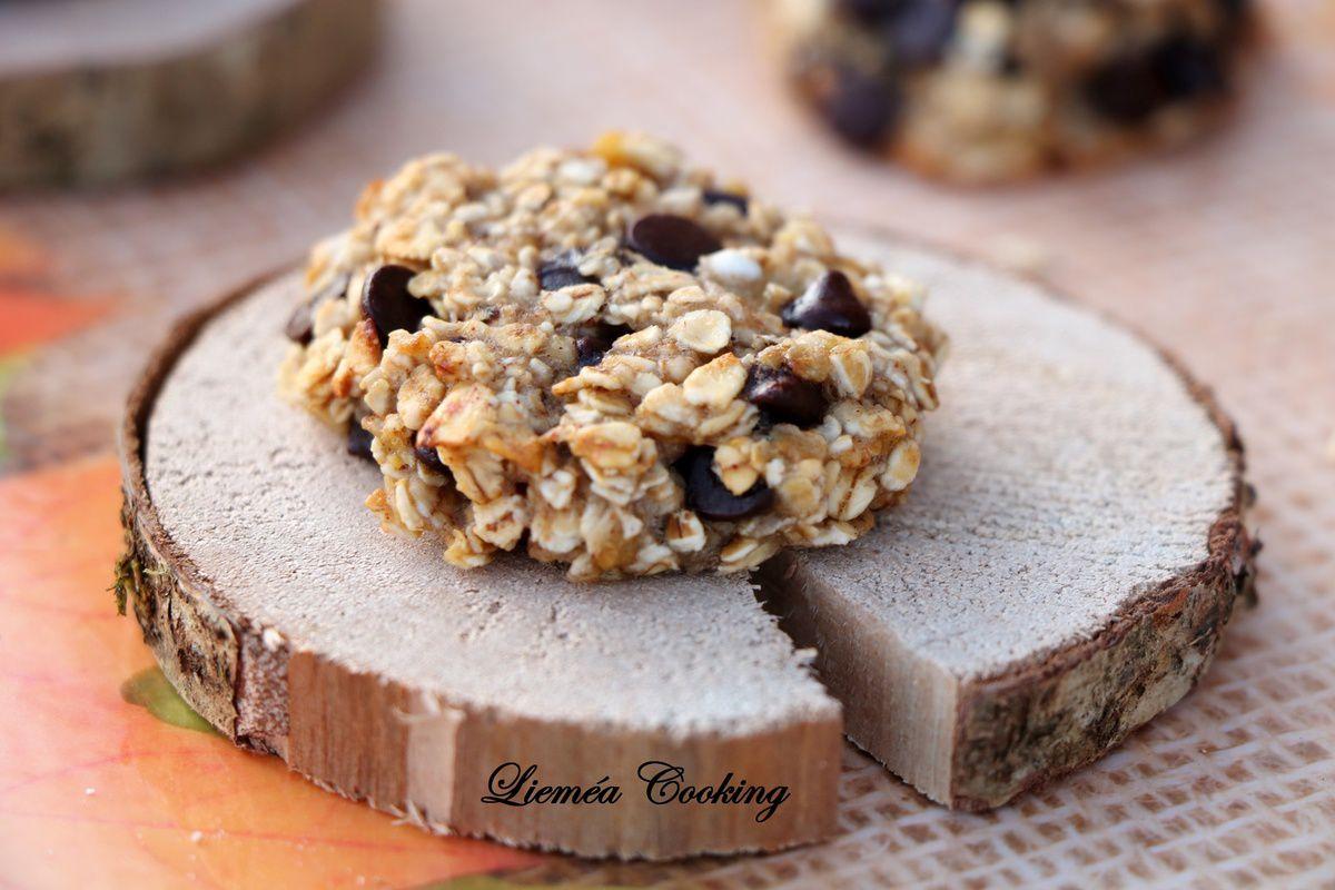 Cookies banane chocolat flocons d'avoine