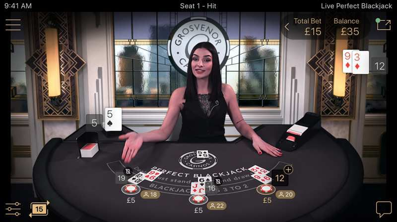 black jack en direct en ligne Perfect Blackjack Live développeur NetEnt