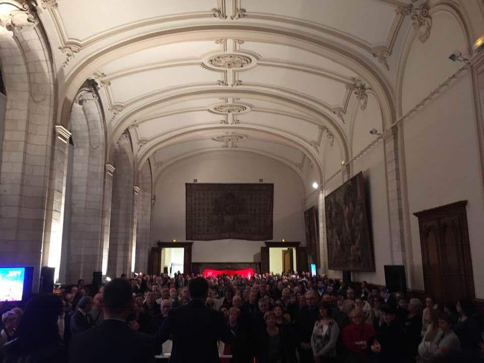 Présent à la cérémonie des vœux en l'honneur des agents de la Ville d'Arras. Merci aux agents pour leur travail au service des Arrageois !