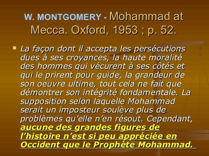 Citations sur Mohammed, Messager d'Allah,paix et bénédiction sur lui