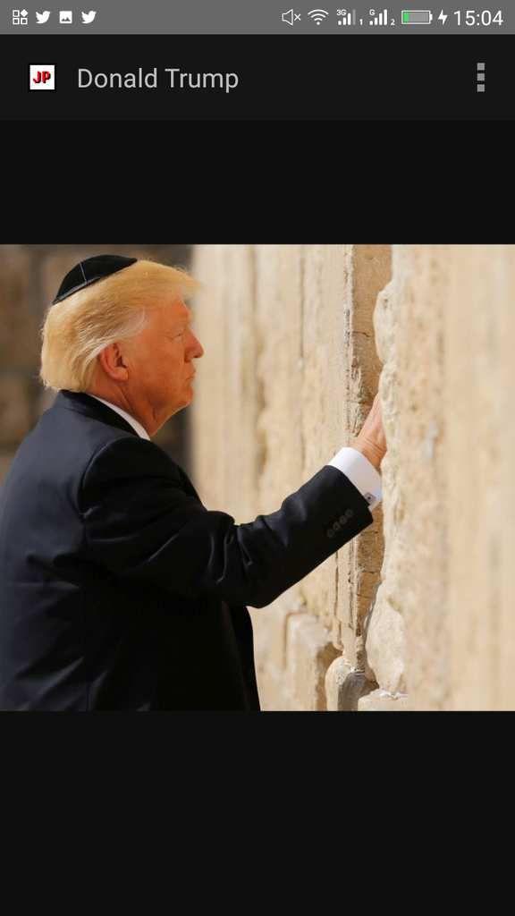 Le président US Donald Trump le chrétien priant juif