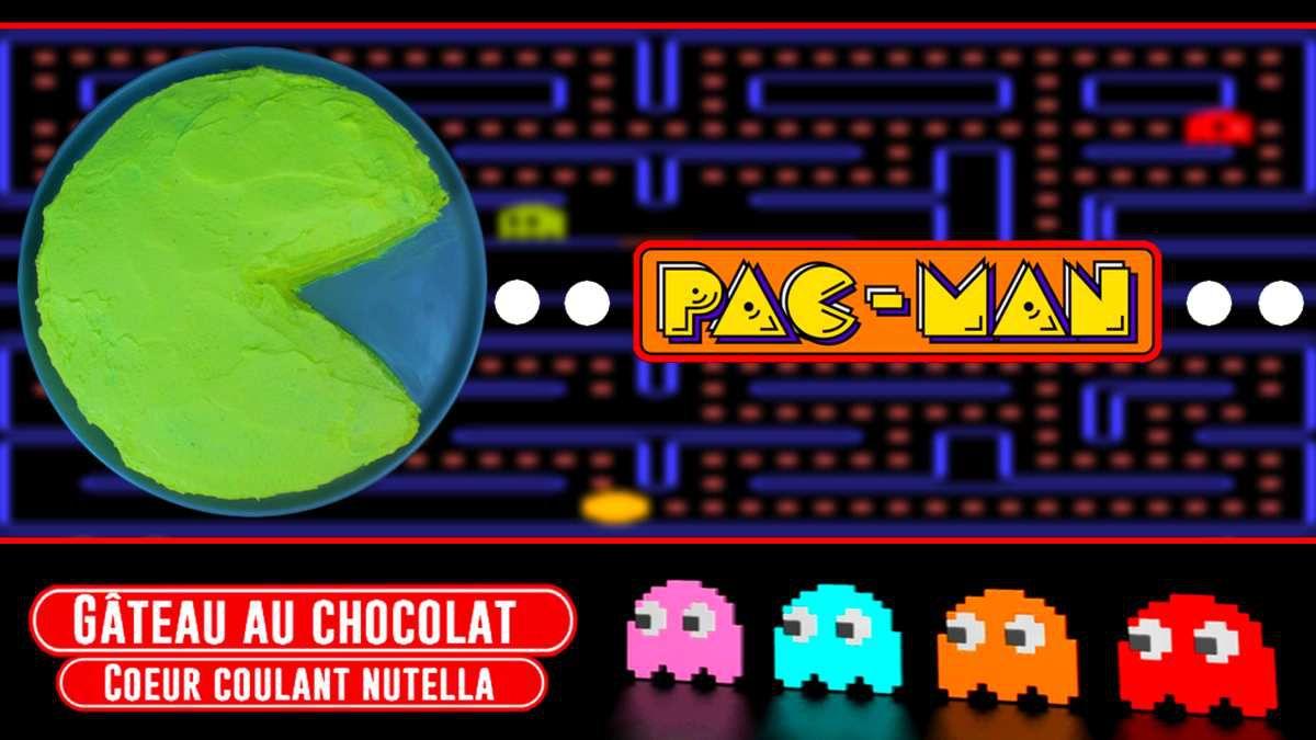 GÂTEAU AU CHOCOLAT PAC-MAN AU NUTELLA !